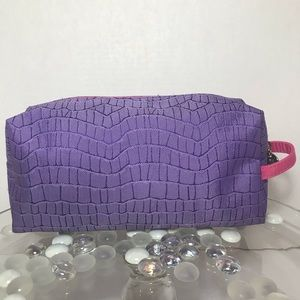 Lancôme Makeup Bag Purple/Pink Fabric Snakeskin